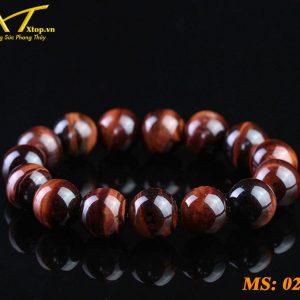 vòng đá mắt hổ đỏ ms22, đá phong thủy tại an giang