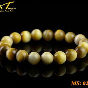 vòng đá mắt hổ vàng ms21, đá phong thủy tại cần thơ