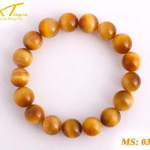 vòng đá mắt hổ vàng ms37