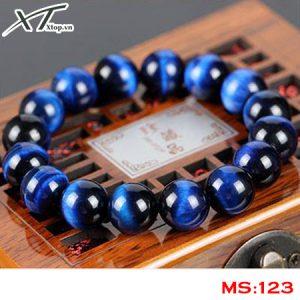 Vòng đá mắt hổ xanh dương MS123