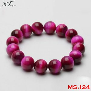 Vòng đá mắt hổ hồng MS124
