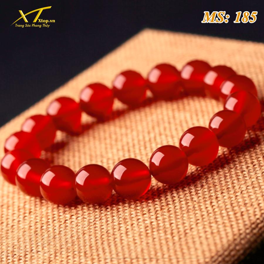 vòng đá mã não đỏ ms185