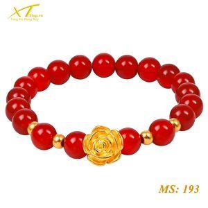 vòng đá mã não đỏ ms193