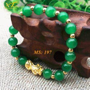 vòng đá thạch anh xanh ms197