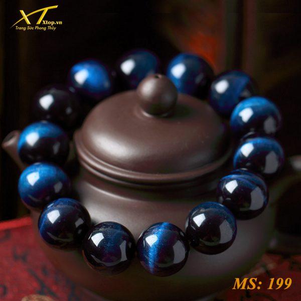 vòng đá mắt hổ xanh dương ms199, vòng đá phong thủy tại hà nội
