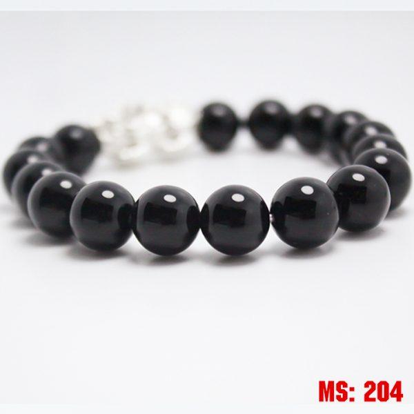 vòng đá thạch anh đen ms204